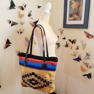 Handbags - Old Saltillo Southwestern Saddle Blanket Tote Bag